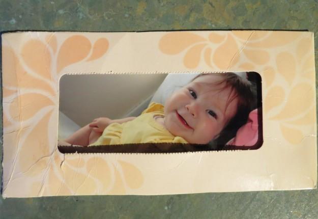 Tissue Box Photo Frame